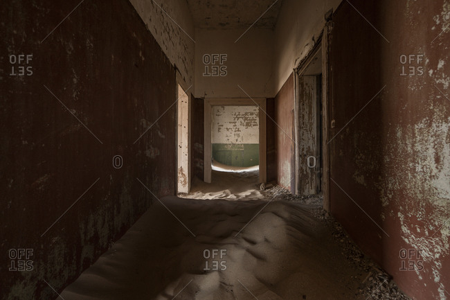 Abandoned house filled with sand, Kolmannskuppe, Namibia