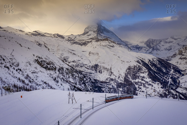 January 1, 1970: Gornergrat Railway on the Matterhorn, Zermatt, Switzerland