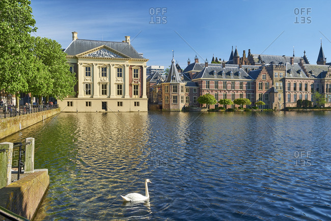 May 1, 2018: Mauritshuis at Binnenhof in The Hague, South Holland, Netherlands, Benelux