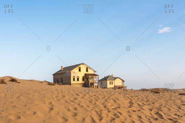 Abandoned house in the desert, Kolmannskuppe, Namibia