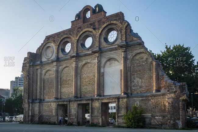 May 12, 2018: Anhalter Bahnhof former railway station, Berlin, Kreuzberg