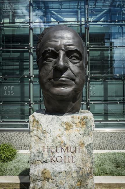 May 9, 2017: Helmut Kohl Monument, Rudi-Dutschke-Strasse, Kreuzberg, Berlin