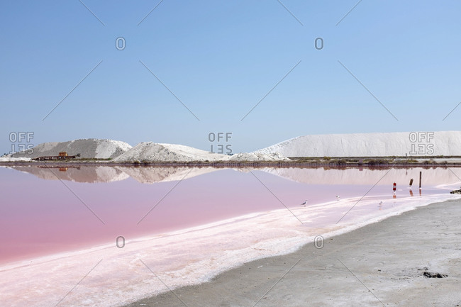 Aigues-Mortes salt marshes, Camargue, Southern France