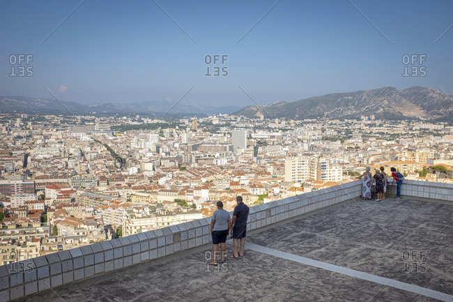 July 29, 2018: View from Notre-Dame de la Garde to Marseille, France