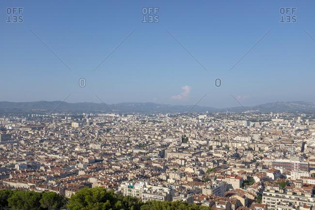 View from Notre-Dame de la Garde to Marseille, France