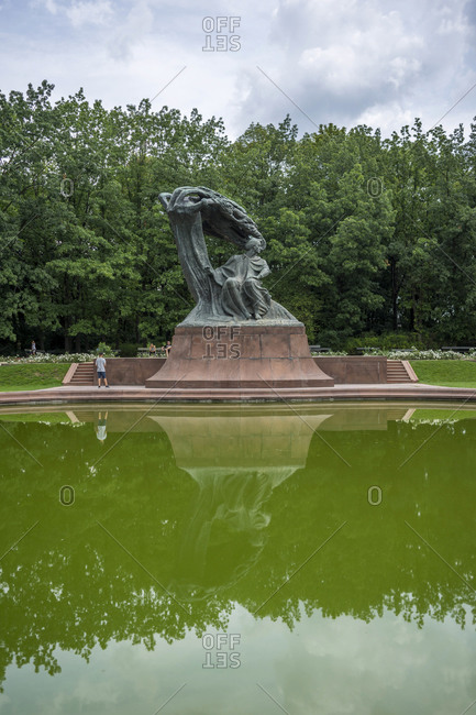 August 18, 2018: Chopin monument in Lazienki Park (Royal Spa Park) in Warsaw, Poland