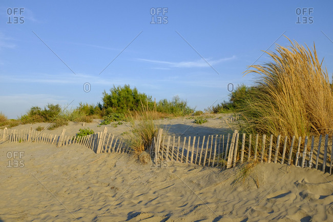 Beach near Le Grau-du-Roi, Camargue, South of France