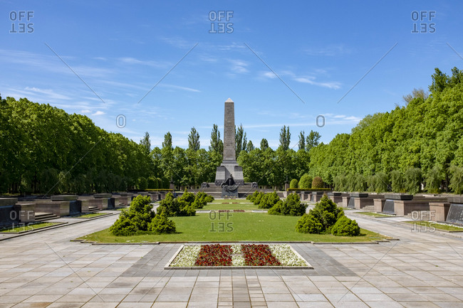 May 12, 2019: Soviet memorial, Schonholzer Heide, Pankow, Berlin