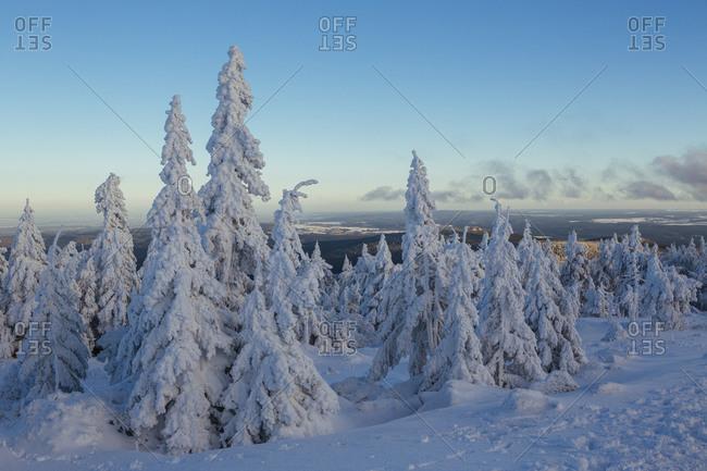 Brocken, Harz, Germany in the winter