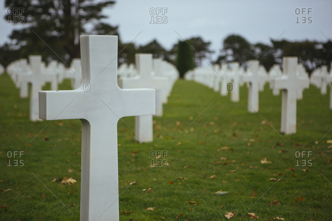 Soldiers' graves in Normandy, France