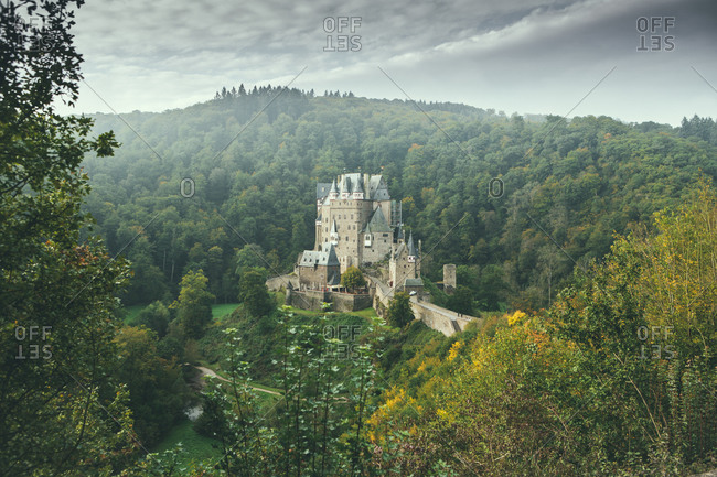 Eltz Castle from a distance