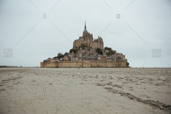 Mont Saint-Michel in France from a distance