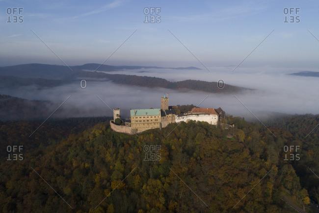 Wartburg in Eisenach on an autumn morning, Germany