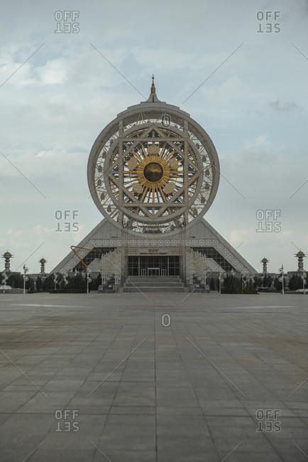 April 10, 2019: World's largest indoor ferris wheel in Ashgabat, Turkmenistan