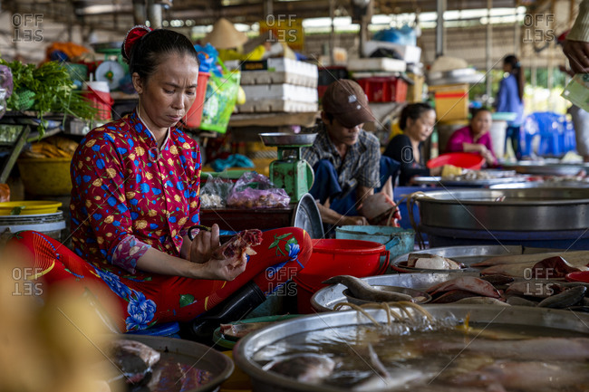 September 27, 2019: Weekly market in Can Tho, Vietnam