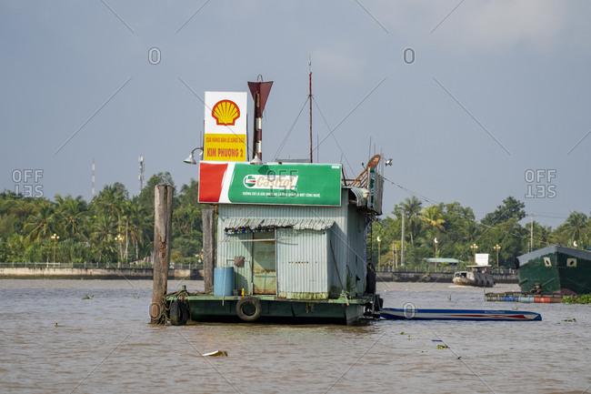 September 27, 2019: Floating market in Can Tho, Mekong Delta, Vietnam