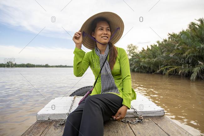 Birds eye view of the Mekong Delta Ben Tre, Vietnam