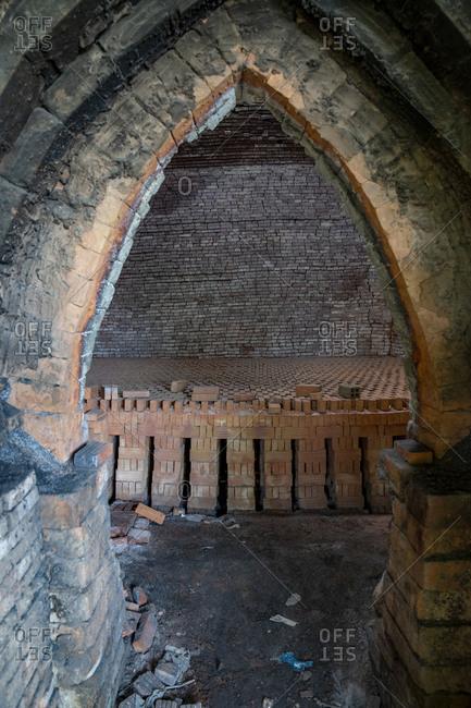 Brick factory in Mekong Delta, Vietnam
