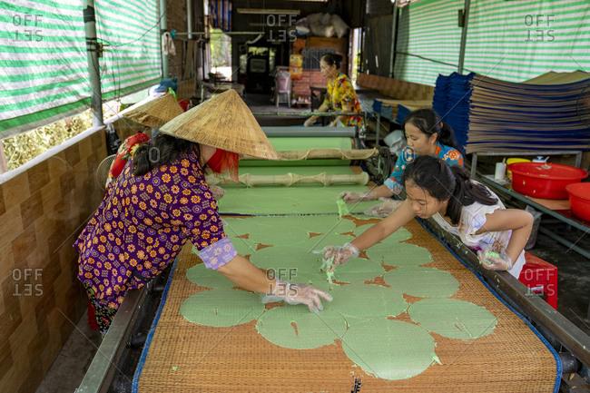 September 26, 2019: Portrait of a craftsmanship in Vietnam