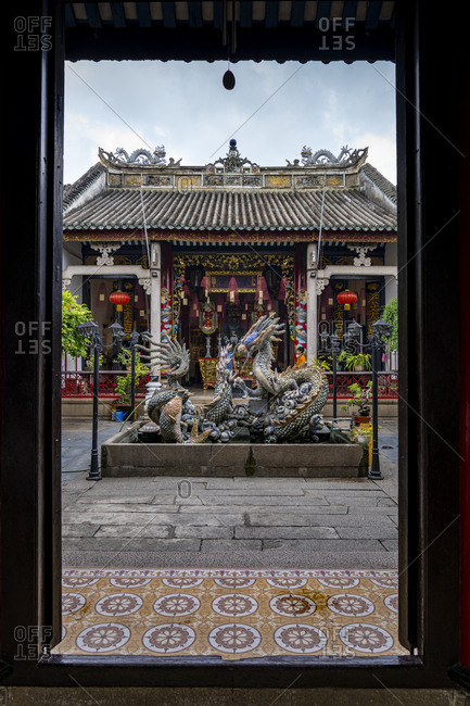 September 25, 2019: sacred temple in the city of Hoi An, Vietnam