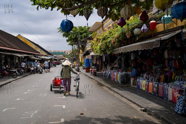 September 25, 2019: Street scene, Hoi An, Vietnam