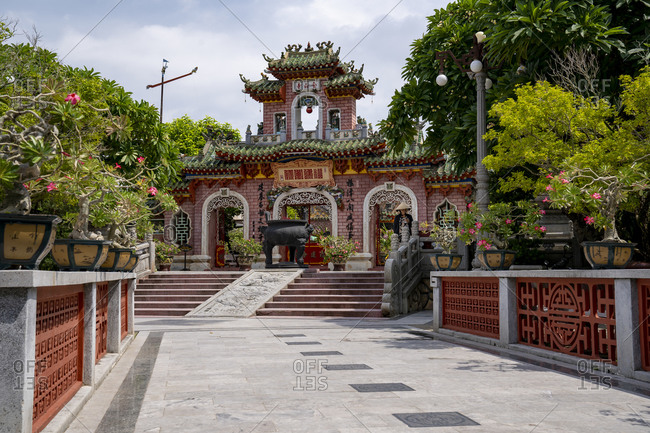 September 25, 2019: Famous attractions in the city of Hoi An, Vietnam