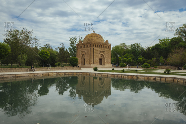 April 12, 2019: Mausoleum, Bukhara (Bukhara), Uzbekistan on the Silk Road