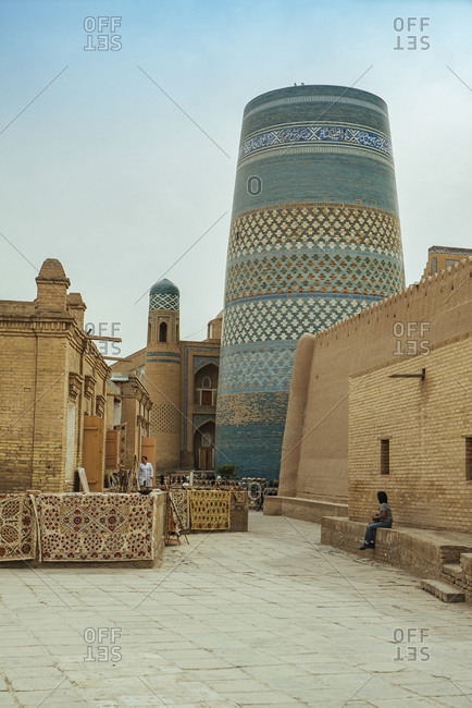April 15, 2019: Famous attractions in the city of Samarkand in Uzbekistan