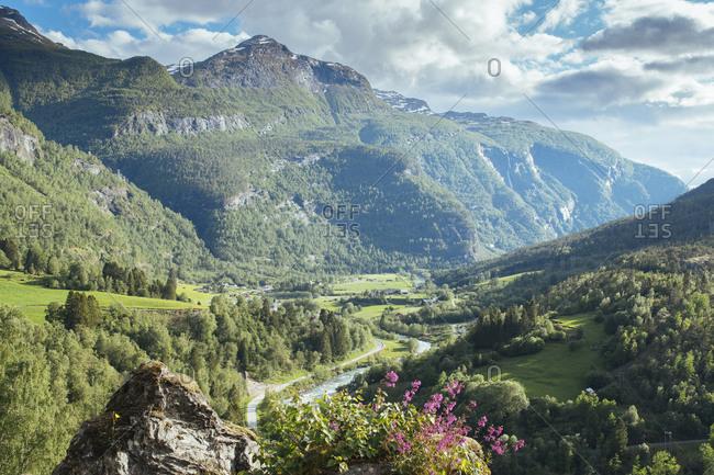 Countryside Route Mountain pass through Jotunheimen, Norway