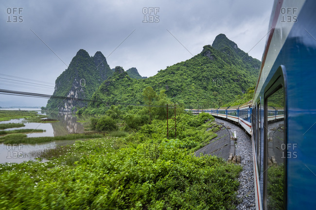 Train ride from Hanoi to Hue, Vietnam