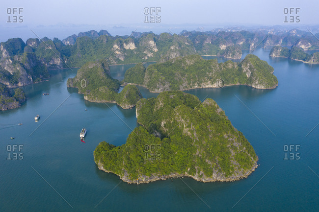 Famous attractions in the city of Halong Bay, Vietnam