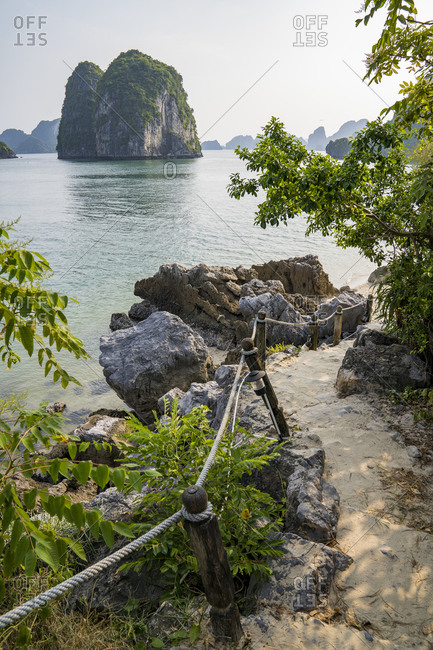 Famous attractions in the city of Halong Bay in Vietnam