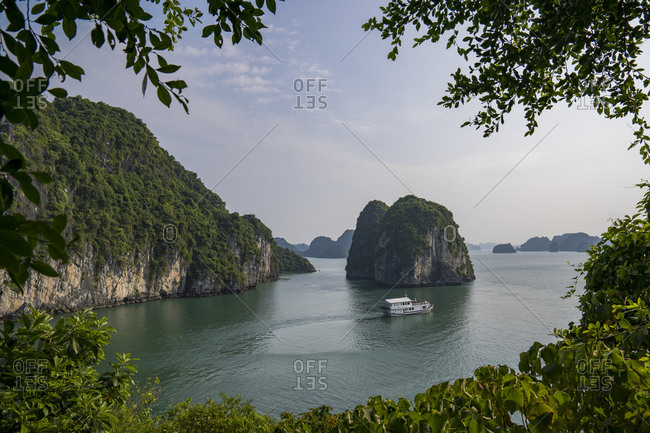 September 18, 2019: Halong Bay in Vietnam, boat tour
