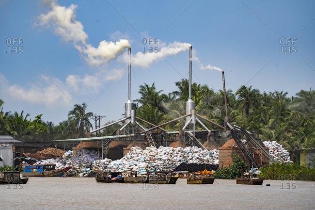 Coconut factory in Mekong Delta, Vietnam