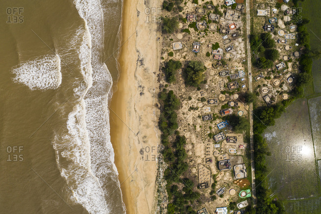 Sandy beach near Hue, Vietnam