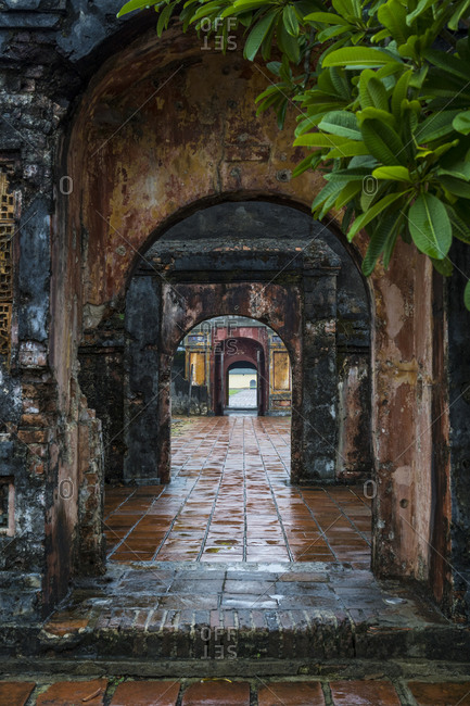 Famous attractions in the city of Hue, Vietnam