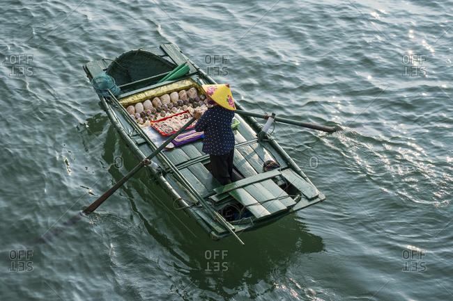 September 18, 2019: Halong Bay in Vietnam, boat