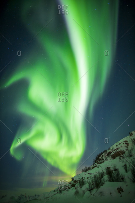 Lofoten Norway Polar lights in February Winter Winter landscape Aurora Borealis