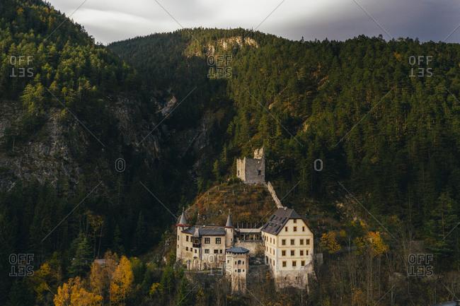 Big castle in Fernsteinsee, Austria
