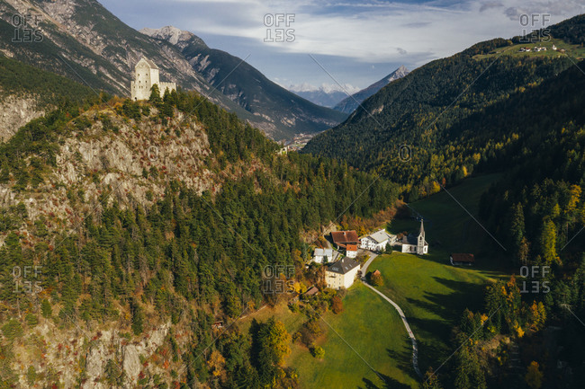 Famous attractions in the city of Kornberg, Austria