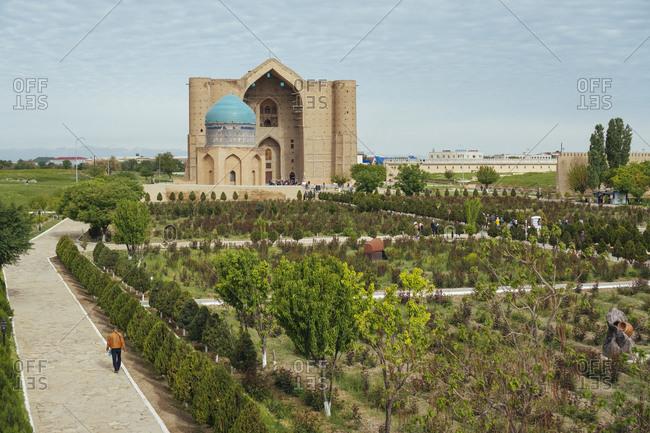 April 20, 2019: Türkistan, Kazakhstan, Mausoleum of Hodja Ahmad Yasawi