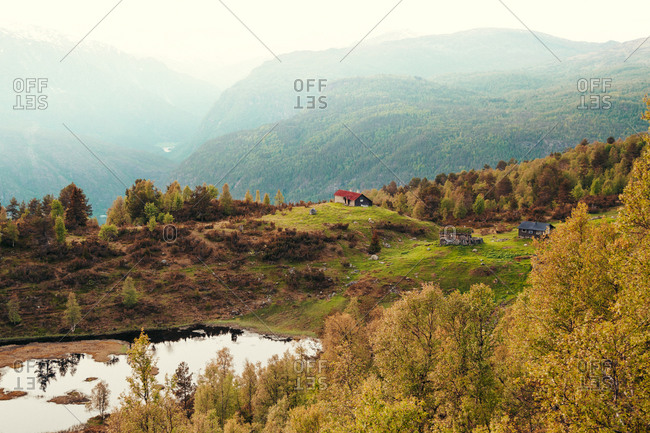 Famous attractions in the city of Sogndal, Norway