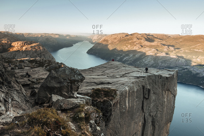 Famous attractions in the city of Preikestolen in Norway