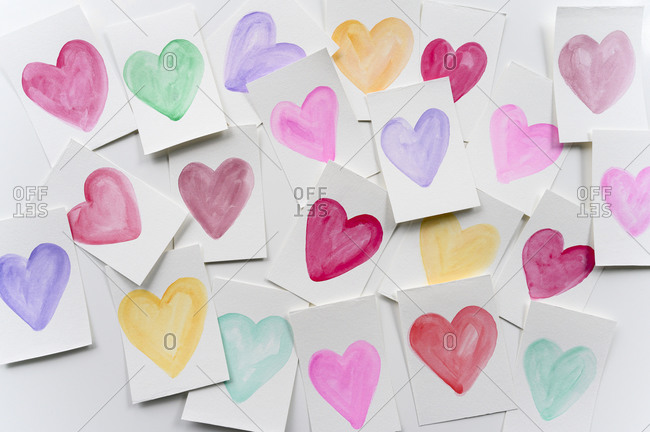 Homemade Valentine cards - Offset Collection