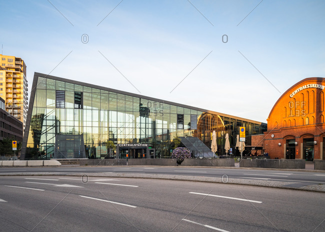 Malmo, Sweden - April 23, 2020: Malmo Central Station railway station