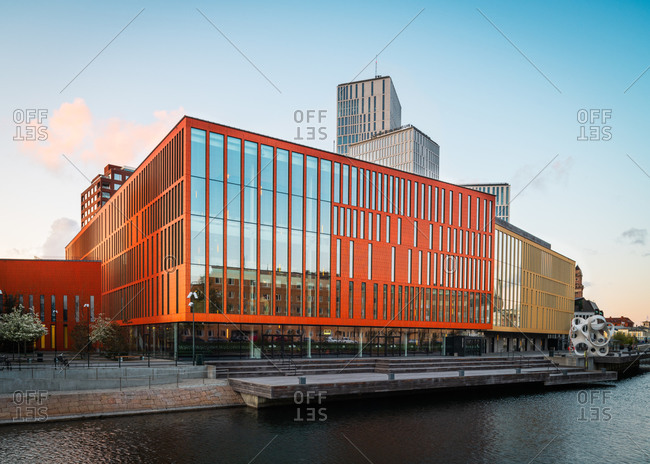 Malmo, Sweden - May 4, 2020: Malmo live seen from across the river