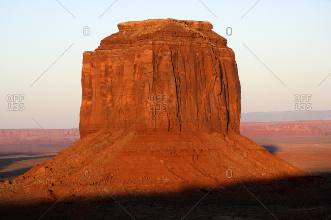 USA- Merrick Butte at dusk
