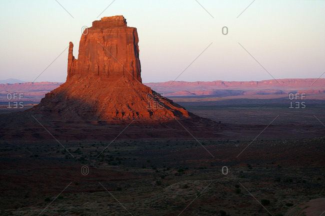 USA- East Mitten Butte at dusk