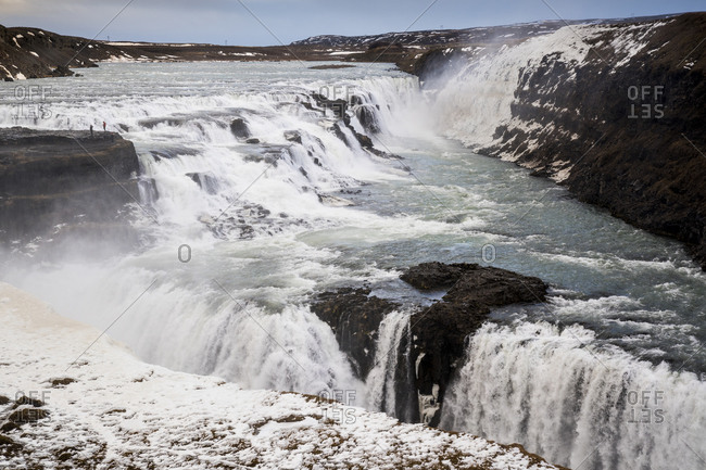 Iceland- Gullfoss waterfall in summer