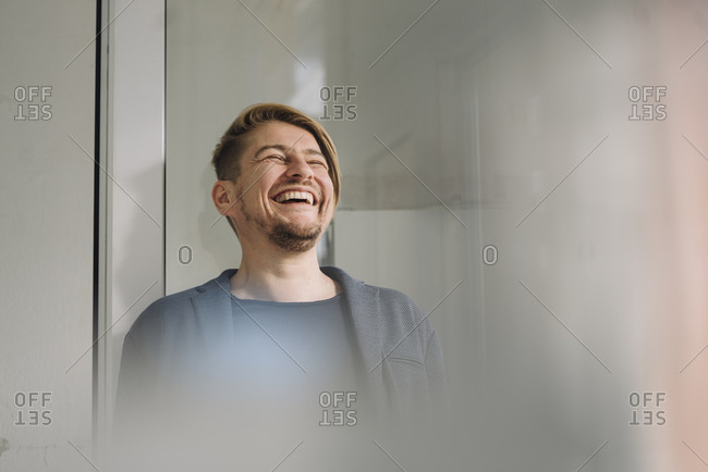 Portrait of a laughing businessman
